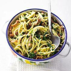 Populair recept in 2012 - Recept - Spaghetti met spinazie en spekjes - Allerhande