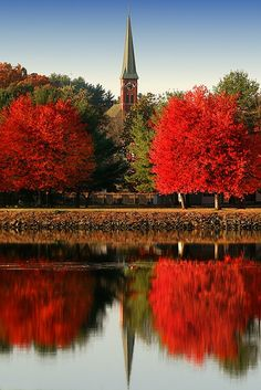 Turner Falls, Massachusetts - just anywhere in New England during the autumn would be wonderful. Beautiful World, Beautiful Places, Beautiful Pictures, Beautiful Beautiful, Turner Falls, All Nature, Kirchen, Wonders Of The World, New England
