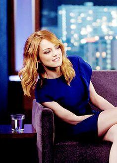 """Emma Stone on """"Jimmy Kimmel Live"""", 3rd April 2014"""