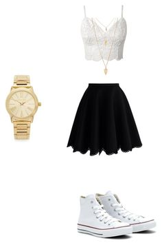 """""""Cute summer outfit"""" by itsnina101 on Polyvore featuring Chicwish, Converse, Michael Kors and Forever 21"""