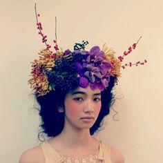 Komatsu Nana with flowers on her head. How can I resist?