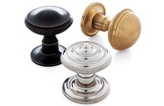 Elegant brass doorknobs from P. E. Guerin.