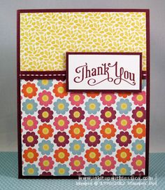 Floral District Thank You Card Making Cards with Pretty Papers