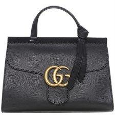 701dbe78359b Gucci GG Marmont Top Handle Bag Black