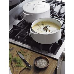 Dansk® Kobenstyle White 4-Quart Casserole in Individual Cookware | Crate and Barrel. $100 for 4 qt. Boy these casseroles have nice lines...