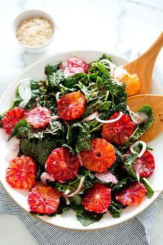 Kale and Blood Orange Salad. Kale and Blood Orange Salad. Healthy Summer Recipes, Healthy Soup Recipes, Spring Recipes, Healthy Salads, Salad Recipes, Healthy Eating, Cooking Recipes, Vegetarian Recipes, Healthy Lunches