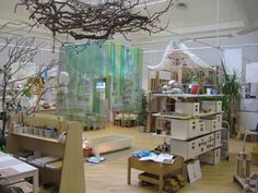 """Love how they have fairy lights wrapped through the branches on the ceiling at Wingate Nursery ("""",)"""