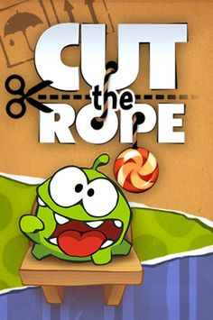 Cut the Rope - Om Nom is very cute and adorable. Very Addicting game of strategy. You can change his treat from a candy to a donut to a cupcake. Whoopie cushions, bubbles, spikes, electric fences and spiders, Oh My!