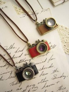 Vintage camera necklaces