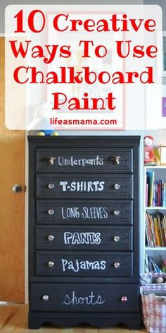 Creative Ways To Use Chalkboard Paint #diy #chalkboard #chalkboardpaint #diyprojects #homedecor #upcycle