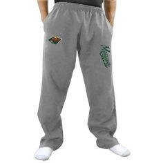 Minnesota Wild Two Hit Fleece Pants - Gray