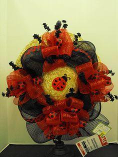 Red and black mesh/ladybug