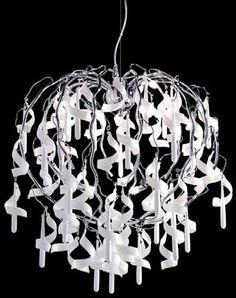 Gioia, lampadario in vetro e metallo, disponibile anche in versione trasparente