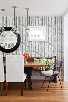City Home transitional-dining-room