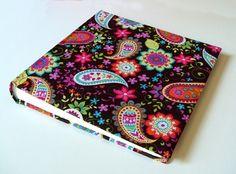 Cuaderno forrado con tela de Costurika miles de ideas!