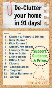 DeClutter your home in 91 days