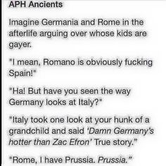 Ancient Hetalia<<< Prussia is not gay, 'kay, Germania? Lik, totally not gay<<< Let's pretend this is true XD