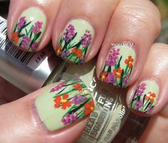 Beautiful+spring+nail+2014 | Spring nail art!!! | BonsÓl