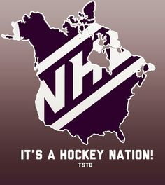 NHL: Canada and the USA is hockey nation Hockey Memes, Hockey Quotes, Hockey Logos, Nhl Logos, Blackhawks Hockey, Chicago Blackhawks, Montreal Canadiens, Lets Go Pens, Pittsburgh Penguins Hockey
