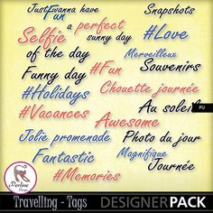 This pack of tags is in English and in French ! Use them to create your layouts about travels and holidays ! They are PNG files, 300 DPI, variable sizes. Have fun !