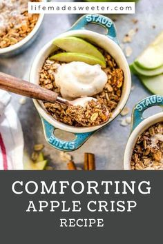 This apple crisp recipe is a family favorite. It's easy to make and tastes delicious! You can top the apple crisp with some ice cream for an extra treat. This apple crisp is an easy fall dessert that can be made in just 10 minutes. It's the best treat ever!