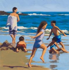 Painting-Acrylic-Martha Baum: Beach Run