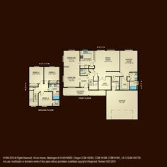 The lewisville 2325 home plan adair homes floor for Hiline homes plans