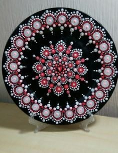 Discover thousands of images about Wooden Round hand painted mandala magnet. Dot Art Painting, Mandala Painting, Pebble Painting, Pebble Art, Stone Painting, Mandala Design, Mandala Pattern, Mandala Painted Rocks, Mandala Rocks