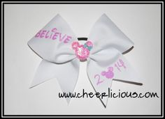 Believe in Magic Bow: Pink Disney Cheer Bows, Cheerleading Cheers, Believe In Magic, Pink, Hot Pink, Pink Hair