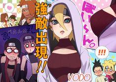 This overly exaggerated artwork doesn't resemble the actual cartoon Anime Naruto, Naruto Uzumaki, Boruto And Sarada, Shikadai, Shikatema, Naruto Girls, Sakura And Sasuke, Naruto Art, Naruhina