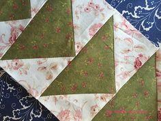 Tutorial del vuelo de la oca en patchwork, aprende a realizar esta técnica de patchwork paso a paso con explicaciones y fotos.