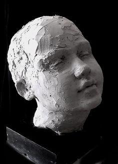 Sculpture - Portrait in stoneware By Josefin Johansson