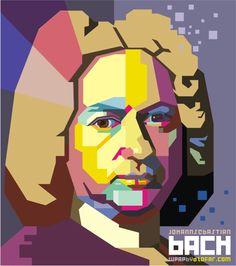 Johann Sebastian Bach Pop Art by ndop Sebastian Bach, Pop Art Portraits, Portrait Art, Baroque Tattoo, Musik Illustration, Book Cover Page, Arts Integration, Tattoo Project, Music Artwork