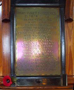 Barnsley War Memorials Project: Barnsley, Buckley Street Chapel, WW1 Memorial Tablet