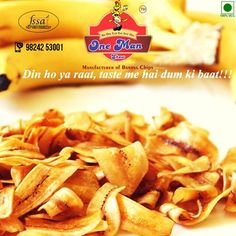 Something Crunchy... Something Munchy.. Something Delicious... Something Tasty... One and Only - Banana Chips From #OneManShow Website: http://onemanshow.co.in/ #chips #bananachips #Hungry #Bestchips #Tastychips #appetizer #snack #party #munching #bestfood #tastyfood #teatimesnack