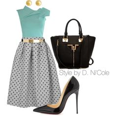 A fashion look from September 2014 featuring Topshop skirts, Christian Louboutin pumps and J by Jasper Conran earrings. Browse and shop related looks. Fashion Moda, Work Fashion, Modest Fashion, Skirt Fashion, Fashion Looks, Womens Fashion, Classy Outfits, Chic Outfits, Fashion Outfits