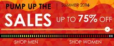 Yes on right now - up to 75% off major international designers clothing, footwear and accessories!