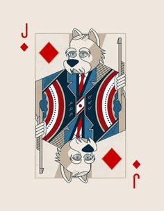 Jack of Diamonds: Teddy Woofsevelt - HOUNDERS playing cards a parody deck on the now infamous FOUNDERS playing cards Cool Playing Cards, Hearts Playing Cards, Custom Playing Cards, Cool Cards, Playing Card Tattoos, Cartomancy, Card Companies, Deck Of Cards, Card Deck