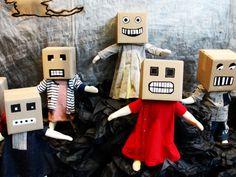 Cardboard box masks.                                      Gloucestershire Resource Centre http://www.grcltd.org/scrapstore/