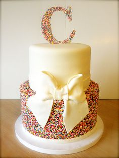 cute birthday cake idea for teenager -- minus the ugly bow?