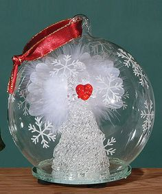 Look at this Angel Heart Light Up Fiber Optic Ornament on #zulily today!