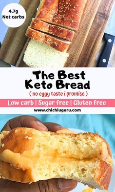 The Best keto Bread - Keto Recipes - Ideas of Keto Recipes - This is the best Keto bread no kidding. No eggy taste and so close in taste to what you crave I promise. Try it with confidence that you wont be wasting your ingredients. Ketogenic Recipes, Low Carb Recipes, Diet Recipes, Cooking Recipes, Healthy Recipes, Ketogenic Diet, Bread Recipes, Pork Recipes, Rutabaga Recipes