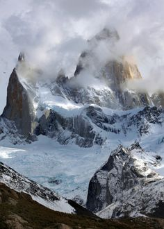 """de-preciated: """"Fitz Roy Portrait (by Rob Kroenert) The Fitz Roy mountain range in Patagonia, near the town of El Chalten, Argentina. I waited for hours, but the clouds never completely cleared… """""""