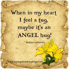 ANGEL HUGS❤. .. Was it you?