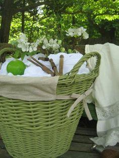 Green basket.
