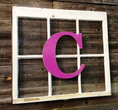 Hand painted 14  wood letter.  Slightly distressed by ASimplePlaceOnMain, $20.56