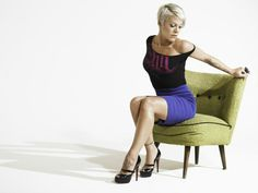 Pink sits up....