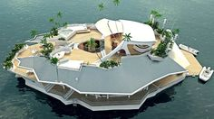 Man-made, floating 'island' for sale, $6,500,000 #onlyinaustria