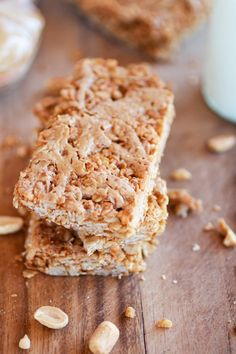 Copycat Nature Valley Peanut Butter Oats n Honey Bars | http://www.halfbakedharvest.com/