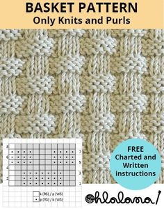 BASKET knitting pattern BASKET stitch pattern ohlalana You are in the right place about knittings ya Baby Knitting Patterns, Knitting Stiches, Knitting Blogs, Knitting Charts, Loom Knitting, Knitting Designs, Free Knitting, Crochet Patterns, Start Knitting